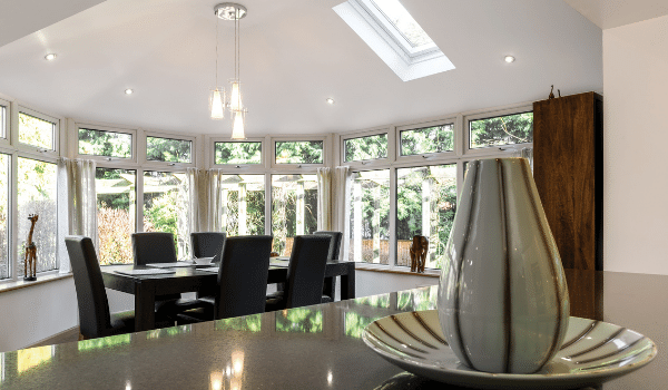 Solid conservatory roofs have a plastered ceiling