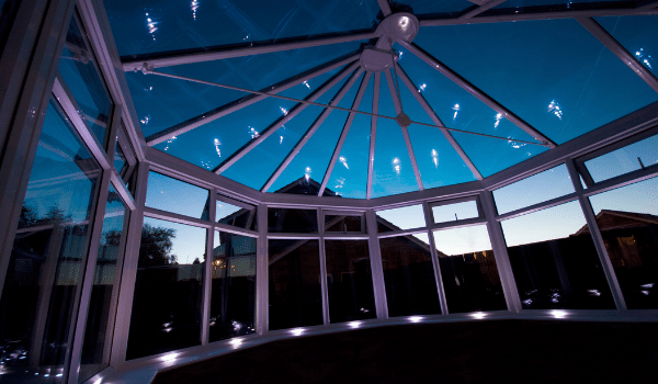 Some people like to see the stars at night from their conservatory