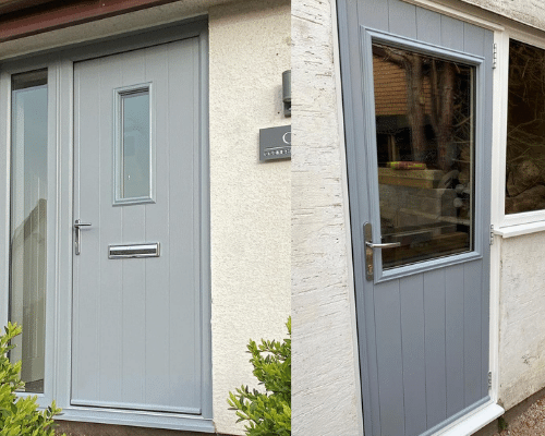 Composite doors Cardiff front and back