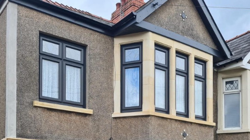 Matching anthracite roofline and windows